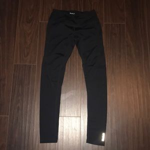 Reebok full length solid black leggings